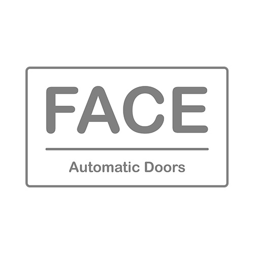 Face automatic doors Logo transparent