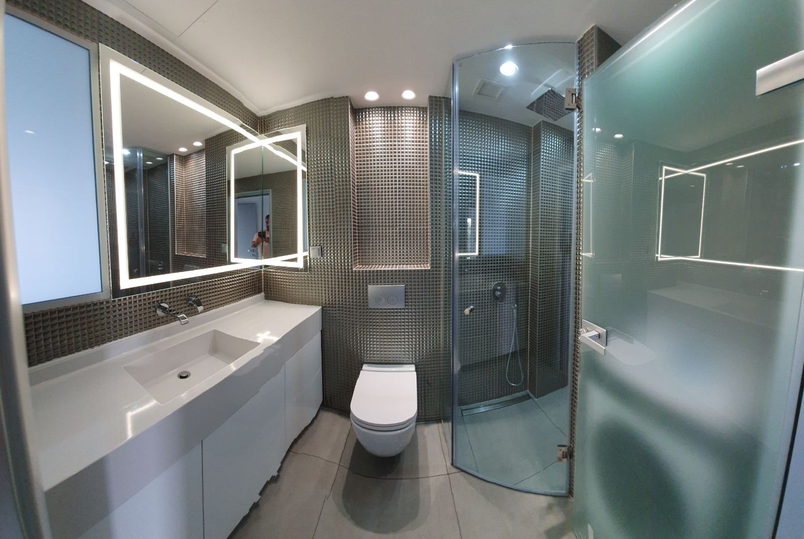 Project υαλουργικά ανακαίνιση μπάνιου.